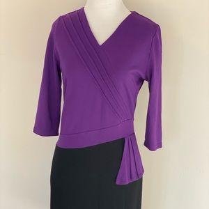 Purple & Black Work Dress
